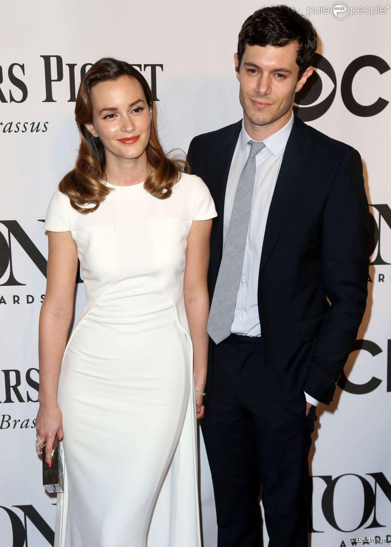 """Leighton Meester et son mari Adam Brody lors de la 68ème cérémonie des """"Tony Awards"""" à New York, le 8 juin 2014."""