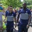 Yohan Cabaye et Paul Pogba - Les joueurs de l'équipe de France de football se promènent au parc du Héron - Villeneuve d'Ascq avant leur rencontre en match amical contre la Jamaïque le 8 juin 2014.