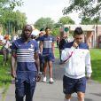 Bacary Sagna - Les joueurs de l'équipe de France de football se promènent au parc du Héron - Villeneuve d'Ascq avant leur rencontre en match amical contre la Jamaïque le 8 juin 2014.