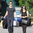 Courteney Cox et son compagnon Johnny McDaid font du shopping à Los Angeles, le 10 juin 2014.