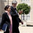 Ségolène Royal et Stéphane Le Foll quittant le conseil des ministres à l'Elysée, le 11 juin 2014.