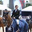 Guillaume Canet a décroché la première place du Prix VIP Riders Club of Cannes au Jumping de Cannes dans le cadre du Longines Global Champions Tour, le 12 Juin 2014
