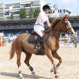 Marina Hands engagée sur le Prix Compagnie de Sellerie Internationale Azur au Jumping de Cannes dans le cadre du Longines Global Champions Tour, le 12 Juin 2014