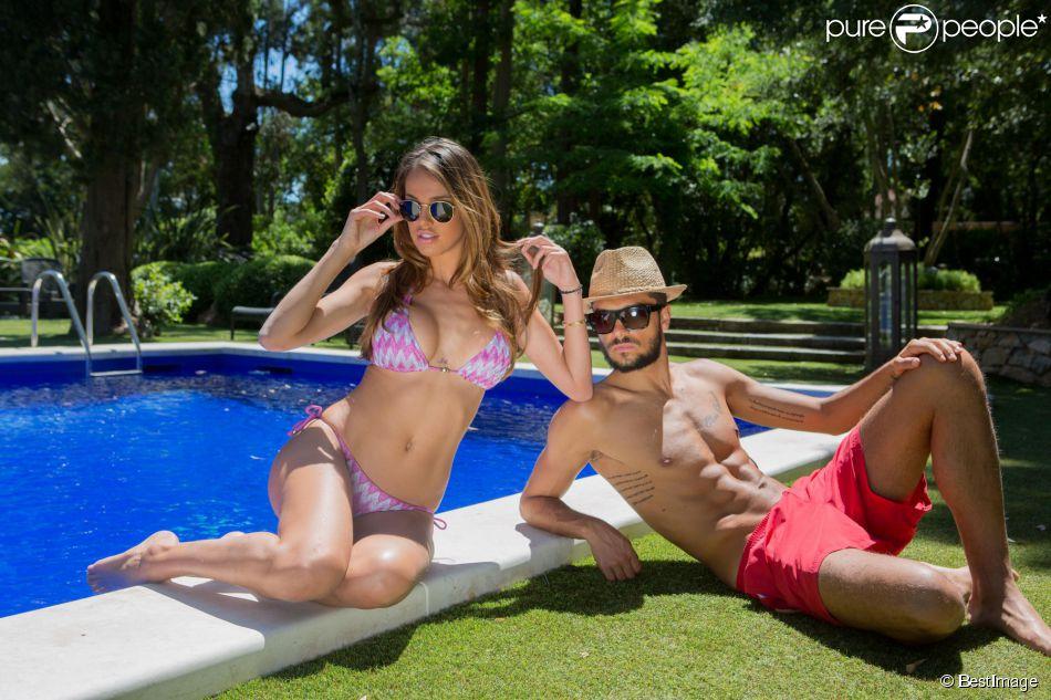 Exclusif - Julien Guirado et la jolie Vanessa Lawrens (Les Anges de la télé réalité 6) au Domaine Bertaud Belieu le 16 mai 2014.