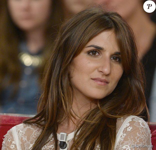 """Géraldine Nakache - Enregistrement de l'émission """"Vivement Dimanche"""" à Paris le 30 avril 2014."""