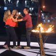 """Sabrina et Caroline remportent la finale de """"Pékin Express 2014"""" sur M6. Juin 2014."""