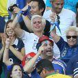 Mathieu Valbuena pouvait compter sur le soutien de sa compagne Fanny, de sa soeur et de sa mère lors du match entre la France et la Suisse, le 20 juin 2014 à l'Arena Fonte Nova de Salvador de Bahia