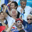 Mathieu Valbuena pouvait compter sur sa compagne Fanny, sa soeur et sa mère pour le soutenir lors du match entre la France et le Suisse, le 20 juin 2014 à l'Arena Fonte Nova de Salvador de Bahia