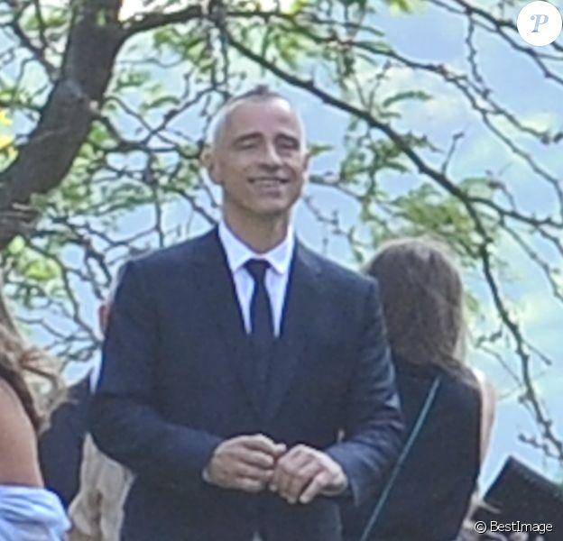 Eros Ramazzotti lors de son mariage avec Marica Pellegrinelli à la Villa Sparina à Monterotondo di Gavi, Italie, le 21 juin 2014