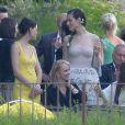 Marica Pellegrinelli lors de son mariage avec Eros Ramazzotti à la Villa Sparina à Monterotondo di Gavi, Italie, le 21 juin 2014