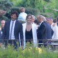 Leonardo et sa femme Anna Billo lors du mariage d'Eros Ramazzotti et Marica Pellegrinelli à la Villa Sparina à Monterotondo di Gavi, Italie, le 21 juin 2014