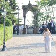 Le mariage d'Eros Ramazzotti et Marica Pellegrinelli à la Villa Sparina à Monterotondo di Gavi, Italie, le 21 juin 2014i