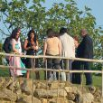 Laura Pausini lors du mariage d'Eros Ramazzotti et Marica Pellegrinelli à la Villa Sparina à Monterotondo di Gavi, le 21 juin 2014
