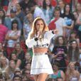 Cheryl Cole sur scène à Wembley lors du Capital FM Summertime Ball. Londres, le 21 juin 2014.
