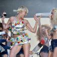 Miley Cyrus sur scène à Wembley lors du Capital FM Summertime Ball. Londres, le 21 juin 2014.