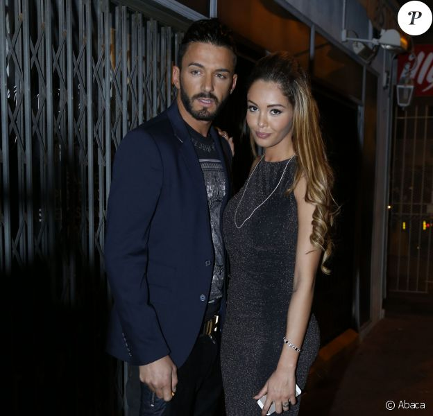 Nabilla et Thomas quittant le club Cosy Box à Cannes le 17 mai 2014