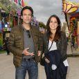 Anthony Delon et sa demi-soeur Anouchka Delon participent à l'ouverture de la fête des Tuileries 2014 à Paris, le 27 juin 2014.