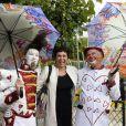 Silvia Kahn participe à l'ouverture de la fête des Tuileries 2014 à Paris, le 27 juin 2014.