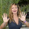 Julie Ferrier participe à l'ouverture de la fête des Tuileries 2014 à Paris, le 27 juin 2014.