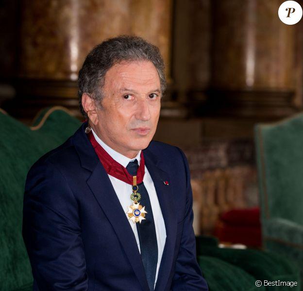 Exclusif - Michel Drucker élevé au rang de commandeur de l'Ordre de la Couronne lors d'une cérémonie qui a eu lieu au palais d'Egmont à Bruxelles le 27 juin 2014.