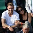 M. Pokora et Scarlett Baya à Roland Garros. Paris, le 2 juin 2014.