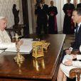 Le roi Felipe VI d'Espagne et son épouse la reine Letizia étaient reçus par le pape François au Vatican, le 30 juin 2014