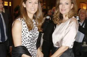 Valérie Trierweiler main dans la main avec Anne Gravoin, madame Manuel Valls