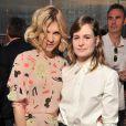 """Clémence Poésy et Héloïse Letissier, alias Christine and the Queens lors du lancement du nouveau parfum de la marque Chloé """"Love Story"""" à l'Institut du Monde Arabe à Paris, le 2 juillet 2014."""