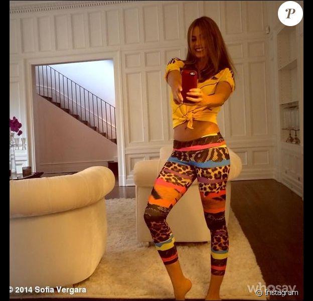 Sofia Vergara, sexy pour supporter son équipe de Colombie. Photo postée sur Instagram et Who Say