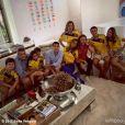 La splendide actrice Sofia Vergara mise sur un maillot de foot cintrée pour soutenir son équipe de Colombie, éliminée par le Brésil