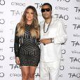Khloe Kardashian et French Montana posent ensemble - Khloe Kardashian fête son trentième anniversaire au nightclub Tao à Las Vegas Le 05 Juillet 2014