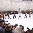 Défilé haute-couture Christian Dior automne-hiver 2014/2015 au musée Rodin. Paris, le 7 juillet 2014.