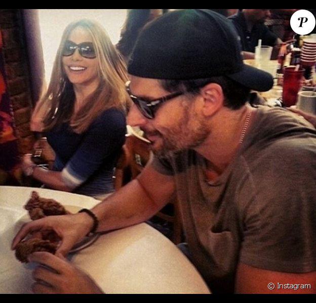 Sofia Vergara et Joe Manganiello au restaurant à la Nouvelle-Orléans le 6 juillet 2014.