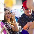 Sofia Vergara sur le tournage de Modern Family, en Australie, le 20 février 2014.
