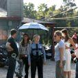 """Reese Witherspoon et Sofia Vergara sur le tournage de """"Don't Mess with Texas"""" à la Nouvelle-Orléans, le 19 mai 2014."""