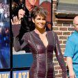 Halle Berry se rend à l'émission The David Letterman Show à New York, le 7 juillet 2014.