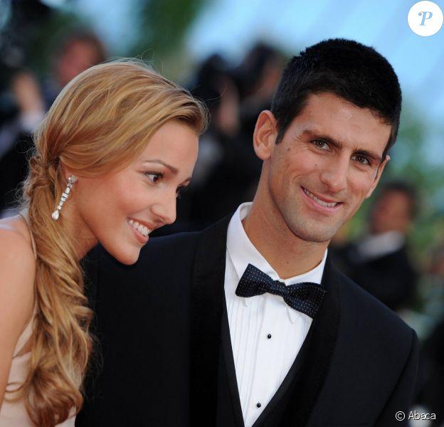 Novak Djokovic et Jelena Ristic lors du Festival de Cannes, le 17 mai 2011