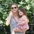 Keri Russell avec sa fille Willa, se baladent à New York, le 10 juillet 2014.