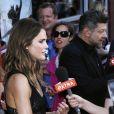 Keri Russell et Andy Serkis à la première de La Planète des Singes : L'Affrontement, New York, le 8 juillet 2014.