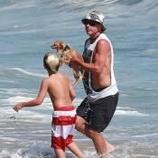Gwen Stefani à la plage avec ses petits, Gavin Rossdale joue les sauveteurs