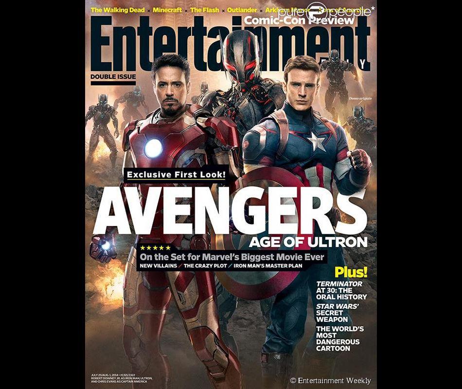 Couverture du magazine Entertainment Weekly, avec Avengers 2.