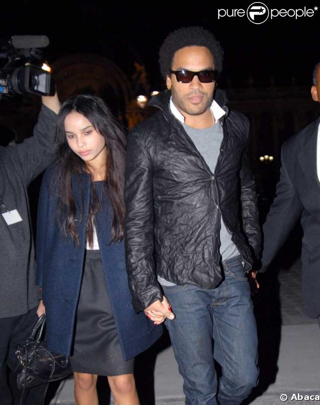 Lenny Kravitz et sa fille Zoe Isabella