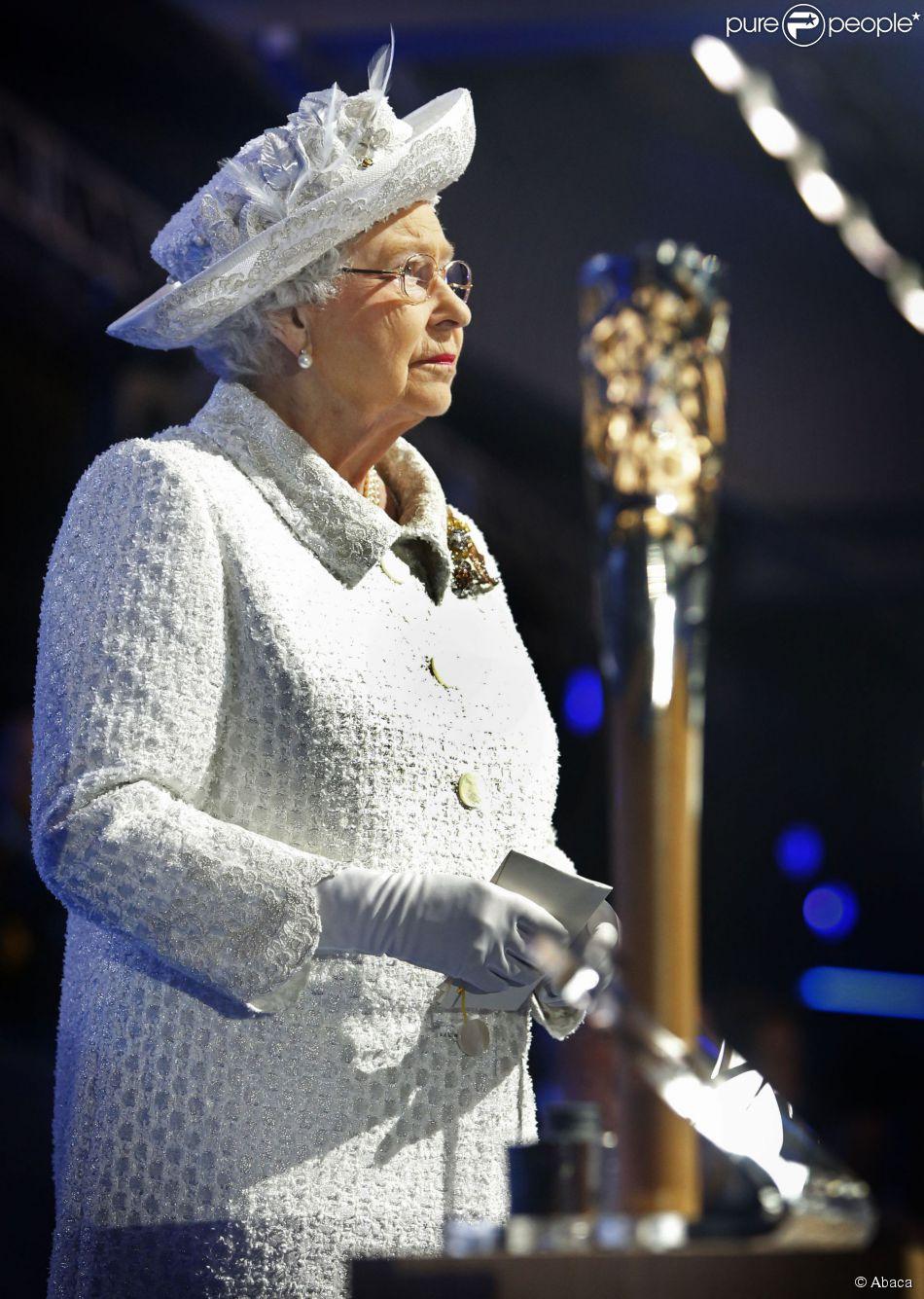 La reine Elizabeth II lors de la cérémonie d'ouverture des Jeux du Commonwealth 2014, le 23 juillet au Celtic Park de Glasgow.