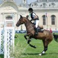 Charlotte Casiraghi au Jumping de Chantilly, neuvième étape du Longines Global Champions Tour, le 27 juillet 2014.
