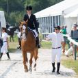 Marina Hands et Guillaume au Jumping de Chantilly, neuvième étape du Longines Global Champions Tour, le 27 juillet 2014.