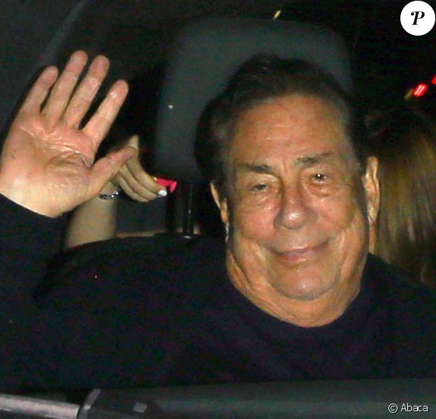 Donald Sterling à la sortie du restaurait Mastro's Steakhouse à Beverly Hills