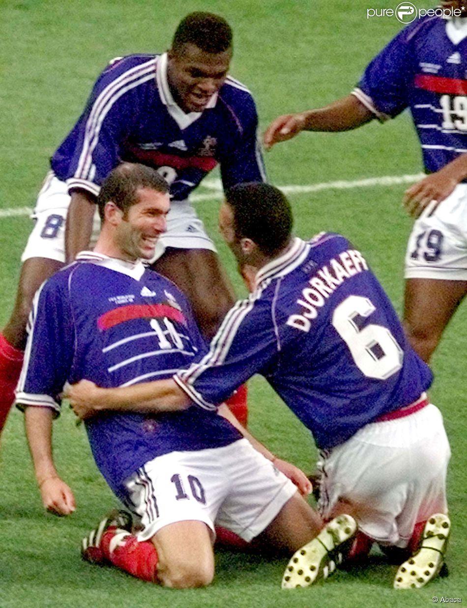 Zin dine zidane youri djorkaeff et marcel desailly le 12 - Zidane coupe du monde 1998 ...