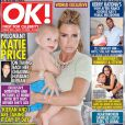 Katie Price, enceinte en couverture du magazine anglais  OK! , daté d'août 2014.