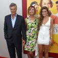 """Lena Olin, son mari Lasse Hallström et leur fille Tora - Avant-première du film """"Les Recettes du bonheur"""" (""""The Hundred-Foot Journey"""") au théâtre Ziegfeld à New York, le 4 août 2014."""