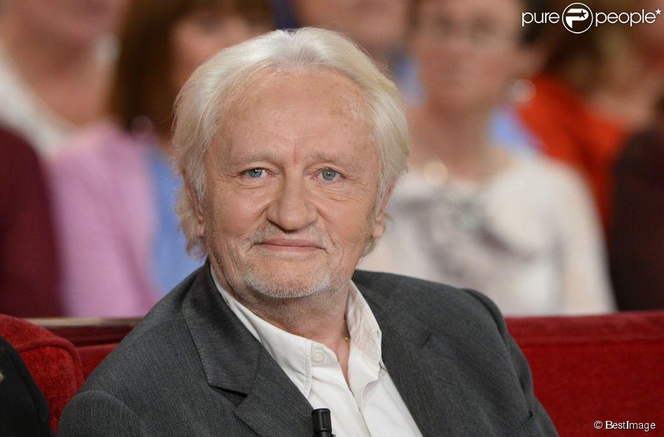 """Niels Arestrup - Enregistrement de l'émission """"Vivement Dimanche"""" à Paris le 13 mai 2014."""